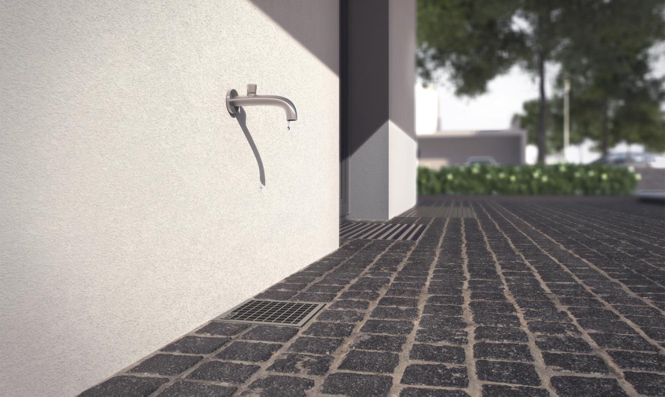 Modernistisk Vandhanebrønd → Leder vandet væk – Plastmo CA75